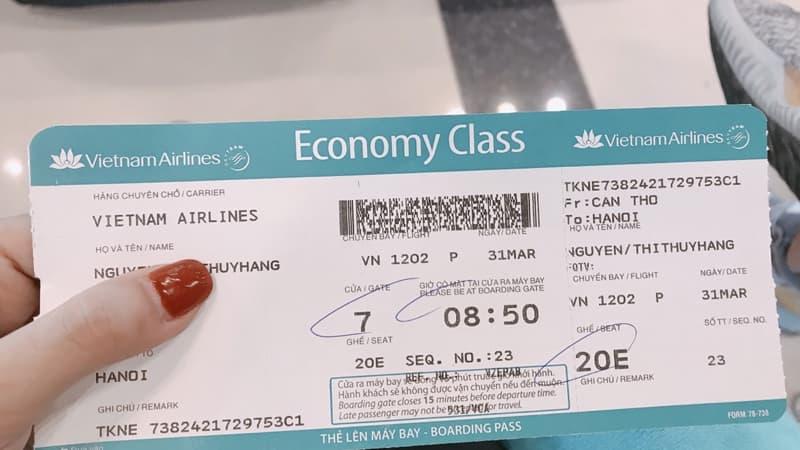 vé máy bay đi Hà Nội từ Cần Thơ