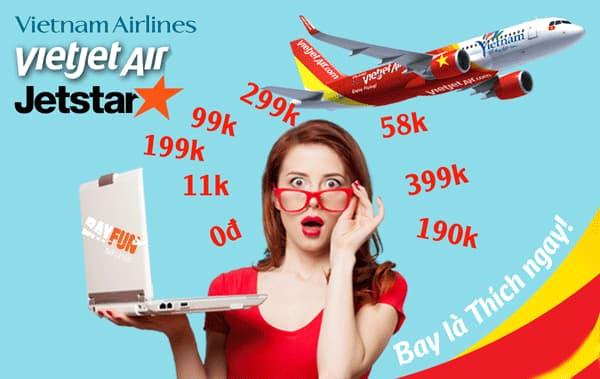 Giá vé máy bay Hà Nội đi Phú Quốc khuyến mãi vietjet, bamboo, vietnam airlines