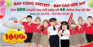 Vietjet Air khuyến mãi vé 16.000đ mừng ngày quốc tế thiếu nhi